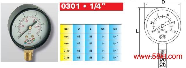 10bar水压表