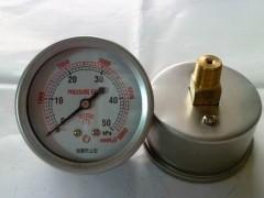 60M轴向过压防止型膜盒压力表