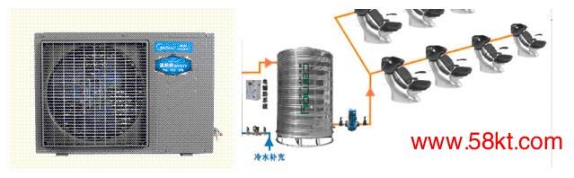 青岛美容美发1吨空气能热水器