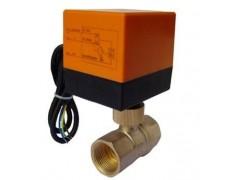 中央空调电动黄铜铜球阀