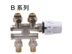 B系列H型恒温阀, 应用于下进下出散热器安装方式
