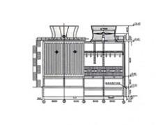 节能型方形逆流式玻璃钢冷却塔
