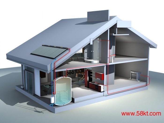 别墅分体式集热系统