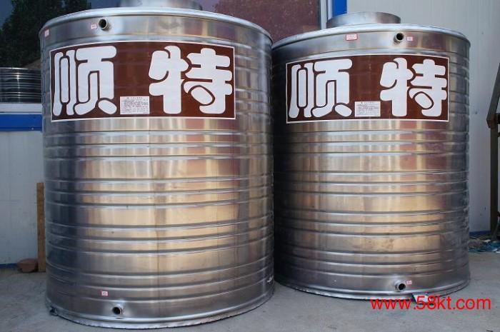 2吨不锈钢圆柱冷水箱