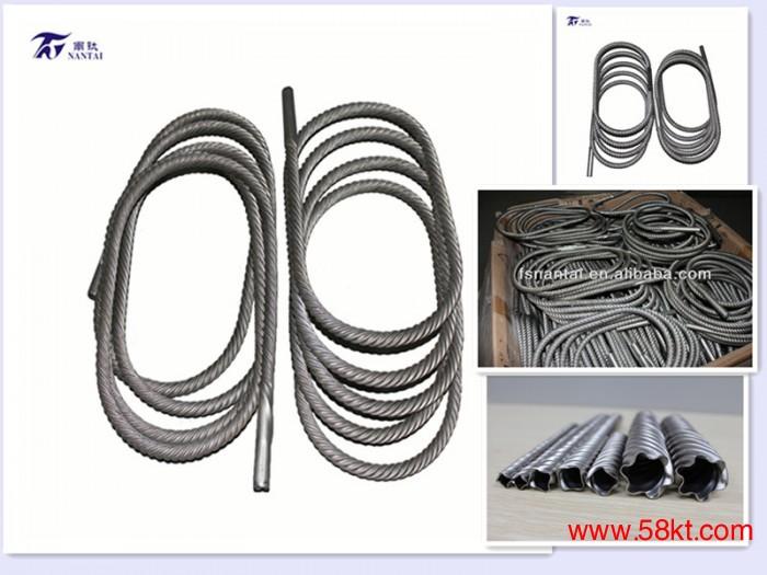 高效能钛螺纹管