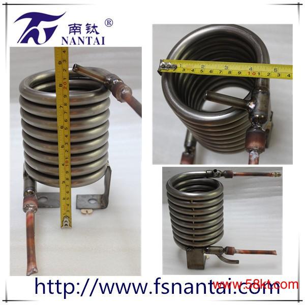 同轴纯钛螺纹套管换热器