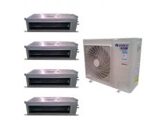 西安格力家用中央空调一拖四多联机, 三室一厅或两室两厅专用