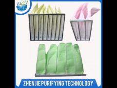 制药厂袋式过滤器静电棉中效过滤, 静电棉中效过滤网F5 F6