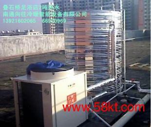 美的3吨空气能中央热水工程