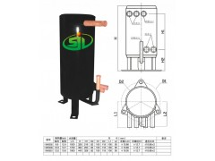5P管壳式换热器含储液器罐, 水源热泵高效换热器 厂家直销