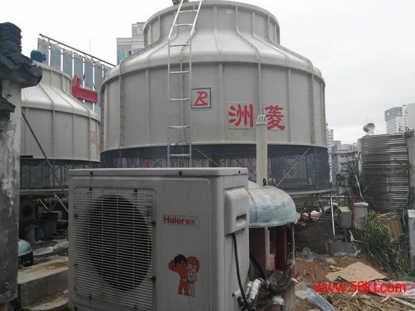 武汉圆形逆流式玻璃钢冷却塔175吨