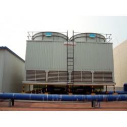 德州工业型玻璃钢逆流式圆型冷却塔