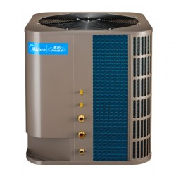 商用美的3P循环机空气能热水器