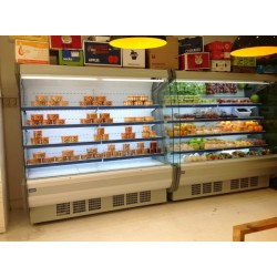 水果店保鲜冷藏风幕柜 展示柜, 保鲜展示柜 保鲜冷藏柜