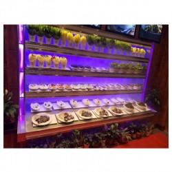 酒店菜品自选台蔬菜海鲜冷藏保鲜台