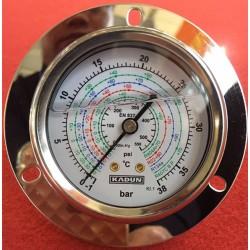 德国卡顿KADUN不锈钢耐震冷媒压力表, 高精度、高品质、进口组件、耐用