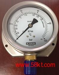 R744二氧化碳冷媒专用德国卡顿压力表
