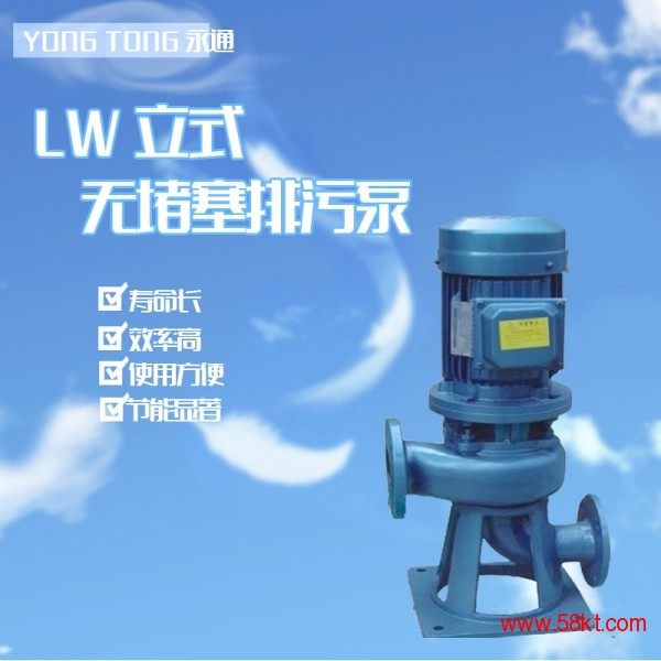 立式泵LW50-15-2 单级单吸管道泵