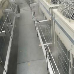 空调外挂机降温系统|室外空调机冷雾降温