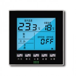 空调+水暖一体温控器, 适用于空气能三联供项目,可同时控制空调和地暖