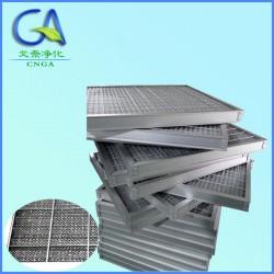 全金属网可清洗过滤器 空气过滤网, 捕集5μm的颗粒尘埃及各种悬浮物,最高温可高达300℃