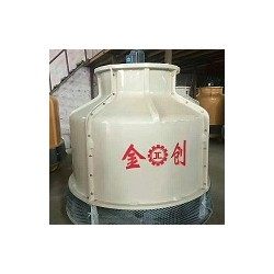 低噪音逆流型制冷设备圆形冷却塔, 河南玻璃纤维金创冷却塔