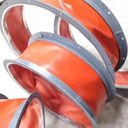 A级防火硅酸钛金软风管, 不燃材料外涂硅箔与隔热层复合制作,具有耐高温、无污染、寿命长