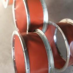 硅酸钛金不燃防火软接.镀锌角钢