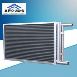 山东空调机组铜管表冷器, 铜管表冷器外框端板采用镀锌钢板制成,硬度高、强度足、寿命长、